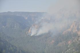 The Slide Fire in its beginnings shot from the Oak Creek Vista on Wed, May 21.