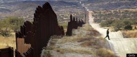 The wall along the Arizona-Mexico border.