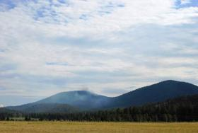 The Sitgreaves Fire burning near Parks on Wed, July 16.
