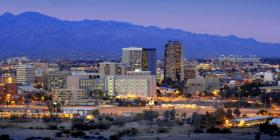 The downtown skyline of Tucson.
