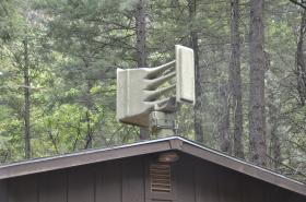One of several sirens located throughout Oak Creek Canyon. The system will sound in the event of an emergency in the canyon where cellphone reception is patchy and communication a huge challenge for emergency managers.