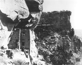William Henry Jackson's historic photo of Mesa Verde's Two Story House.