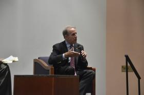Republican gubernatorial candidate Frank Riggs at Monday's forum.