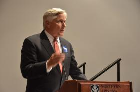 Democratic gubernatorial candidate and former Arizona regent Fred DuVal.