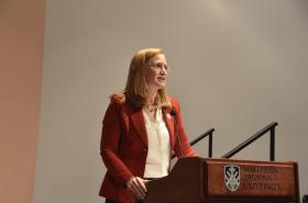 Republican gubernatorial candidate Christine Jones.