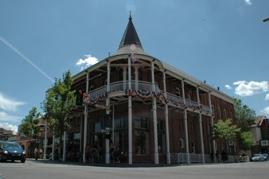 The historic Weatherford Hotel in downtown Flagstaff