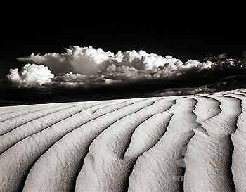 Rippled sand dunes on the Navajo reservation