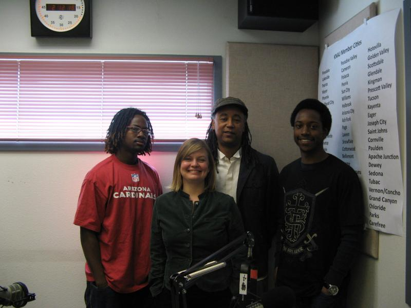 From left to right: Vernon Richardson, Nicole Walker, Jesse Vaughan and Cedric Owens.