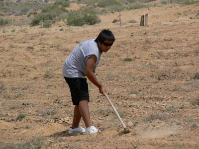 Planting corn on the Hopi reservation - a community service project through Hopi Footprints.