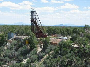 An abandoned uranium mine near the Grand Canyon.