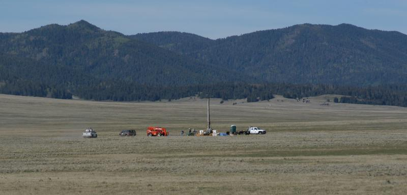 A view of the research site at New Mexico's Valle Caldera