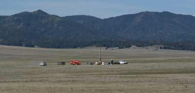 Researchers extract sediment cores from the Valle Caldera in New Mexico. The samples date back 500,000 years and may offer insight into the future of water availability in the region.