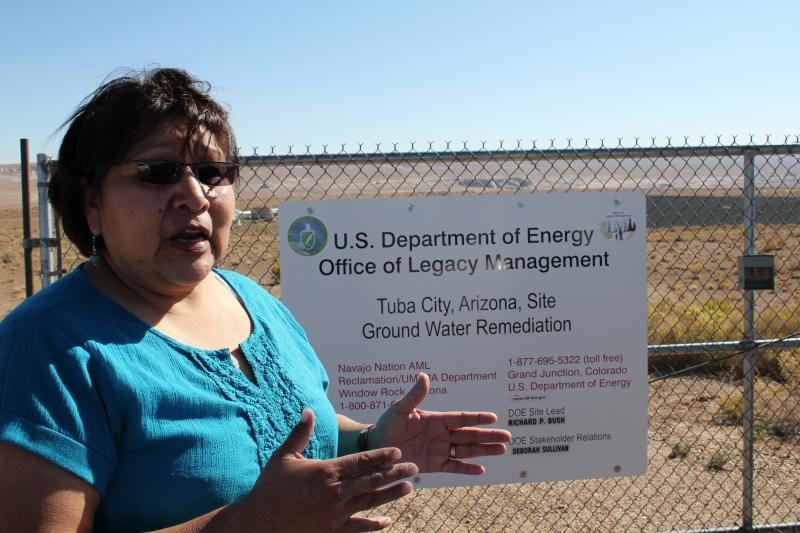 Gayl Shingoitewa-Honanie, director of the Hopi Environmental Protection Office. Groundwater beneath the Tuba City landfill is now contaminated with uranium.