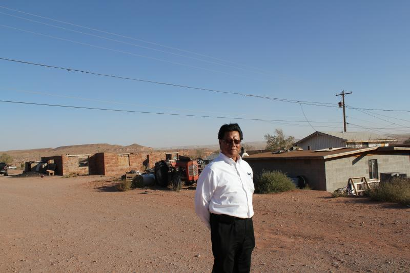 William Charley, governor of the Hopi village of Upper Moenkopi, fears the community's drinking water will be ruined if contamination reaches three municipal wells. A radioactive plume is a quarter mile from one of the wells.