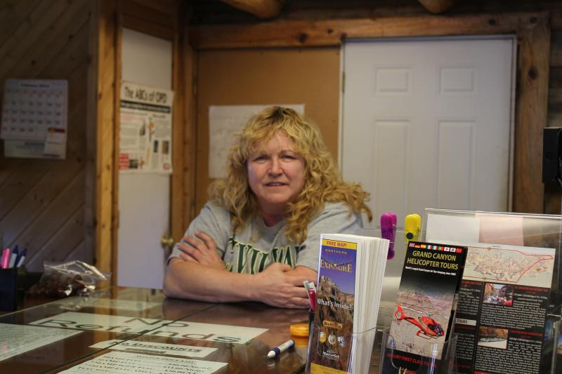 Sheryl Strobeck, office manager at Camper Village in Tusayan, supports a proposed development plan because she believes it will mean more housing options for workers.