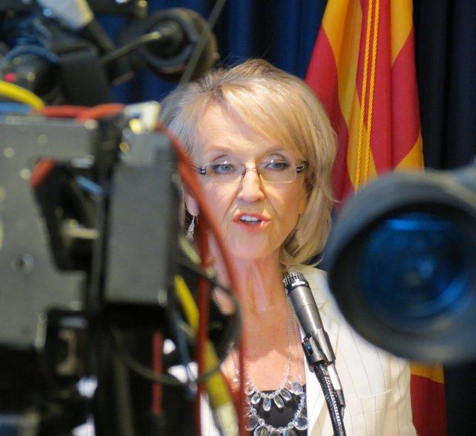 Arizona Gov. Jan Brewer spoke to the media Monday following the U.S. Supreme Court's ruling on Arizona's immigration law.