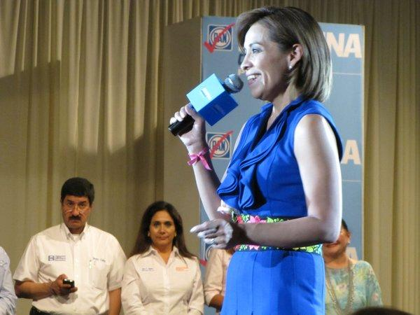 Mexican presidential candidate Josefina Vazquez Mota during a campaign visit to Ciudad Juárez.