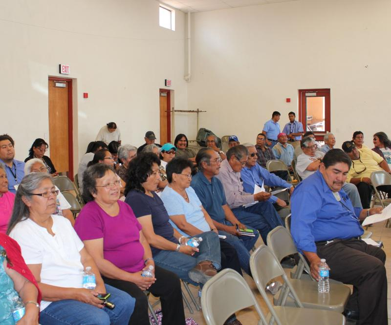 A crowd of more than 100 Hopis gathered Friday to hear former Hopi leaders speak out against a water settlement bill proposed by Sen. Jon Kyl.