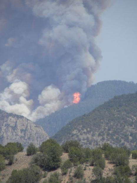 Gila National Forest Fire, May 17, 2012