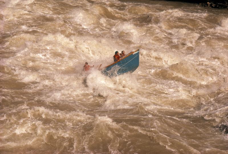 Dory in Lava Falls