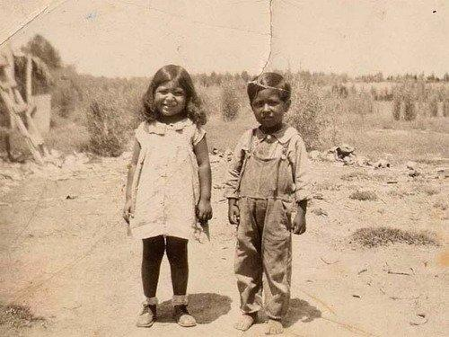 Cesar Chavez and his sister were born in San Luis, Ariz.