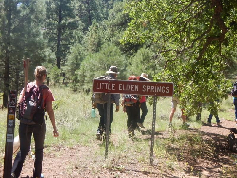 The hike to Little Elden Springs
