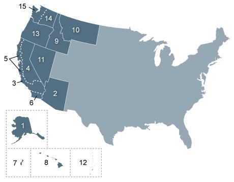 AZ Lawmakers Push For New US Circuit Court KNAU Arizona Public - Map of us circuit courts