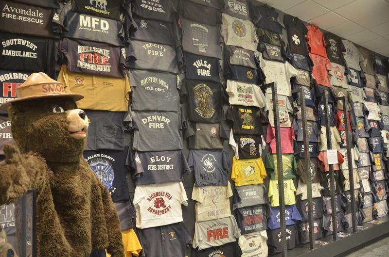 Fewer than half of the T-shirts left at Station 7 are on display at the Learning Center. They, along thousands of other tribute items, were in storage until recently.