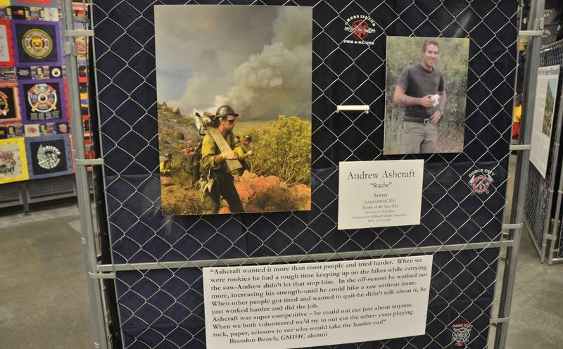 A display honoring hotshot Andrew Ashcraft