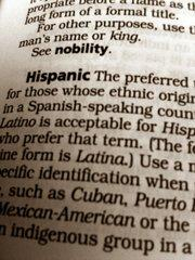 The entry for 'Hispanic' in the Associated Press Stylebook.
