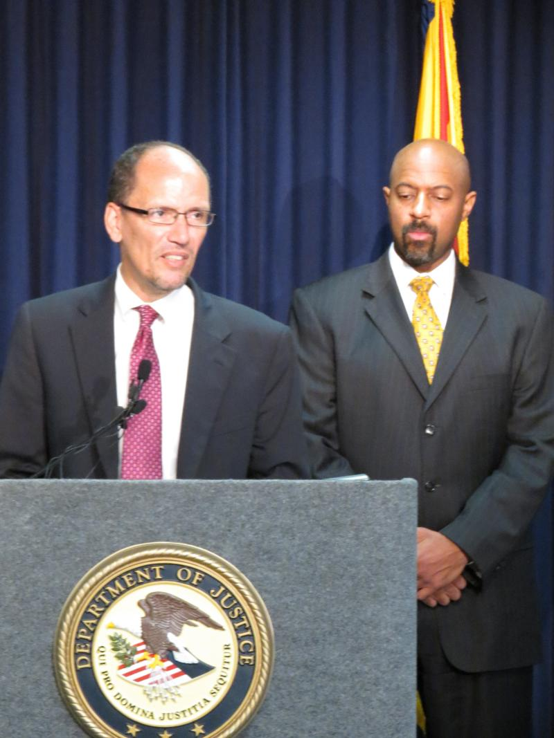 Assistant Attorney General for Civil Rights Thomas E. Perez with Deputy Assistant Attorney General Roy Austin