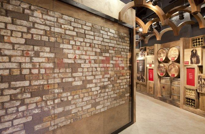 The museum's collection includes the section of the brick wall from the St. Valentine's Day massacre in 1929.