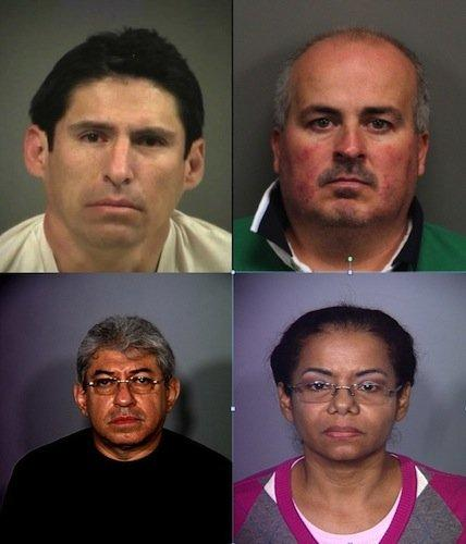 These four individuals have all been arrested by Nevada police agencies in the last 12 months on charges relating to practicing medicine without a license. Clockwise: Juan Alberto Ruan-Rivera, Edgar Orozco-Abundis, Carmen Olfidia Torres-Sanchez and Ruben