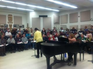 Dr. Edith Copley conducts one of the last rehearsals before the choirs head to New York