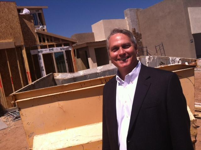 Ken Peterson is a vice president for Shea Homes, where sales are up almost 60 percent from last year.