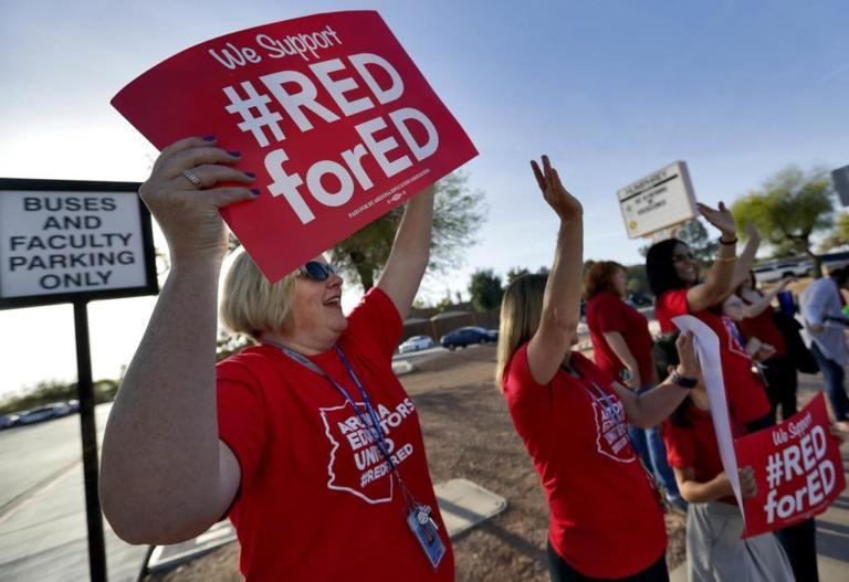 Arizona teacher protests: Walk-out vote begins, confusion over strikes