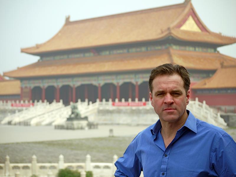 Niall Ferguson at the Forbidden City, China.