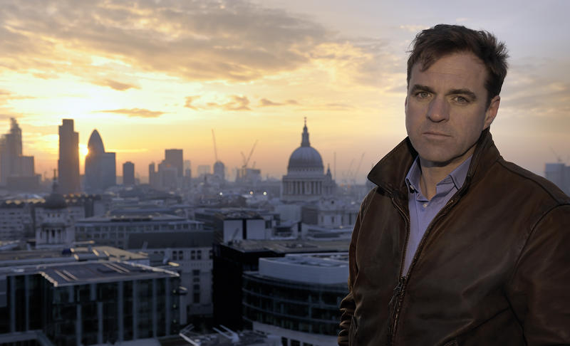Niall Ferguson with view of the London skyline.
