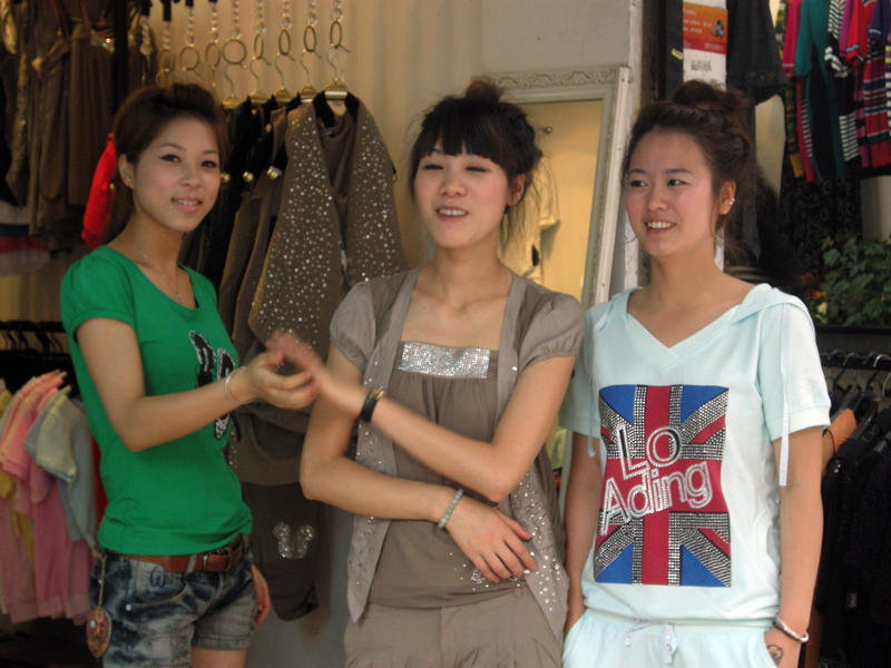 Young girls in China.