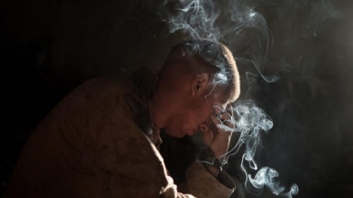 A Marine of Echo Company 2nd Battalion, 8th Marine Regiment.