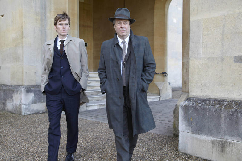 Shaun Evans as Endeavour Morse and Roger Allam as Detective Inspector Friday
