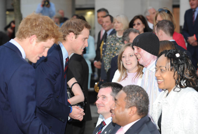 Prince Harry and Prince William meet war veterans to celebrate and support British service personnel and their families.