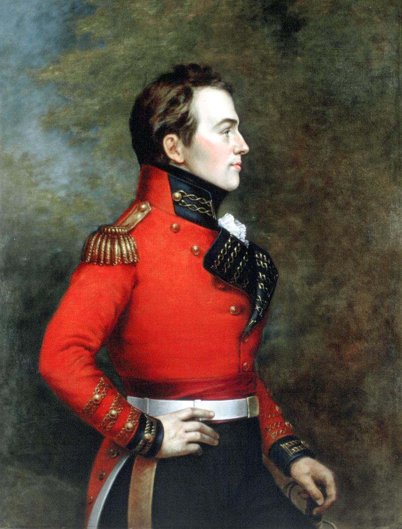 Portrait of Major-General Sir Isaac Brock, who is featured in The War of 1812.