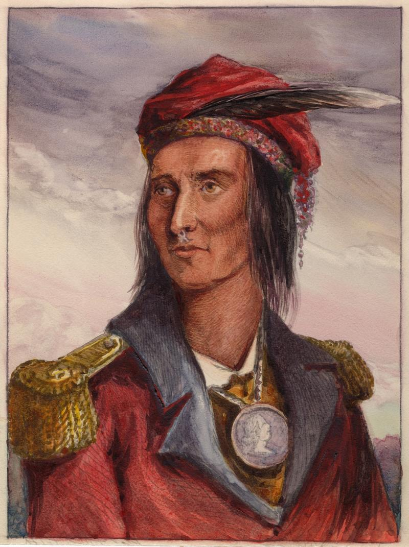 Portrait of Shawnee leader Tecumseh, who is featured in The War of 1812.