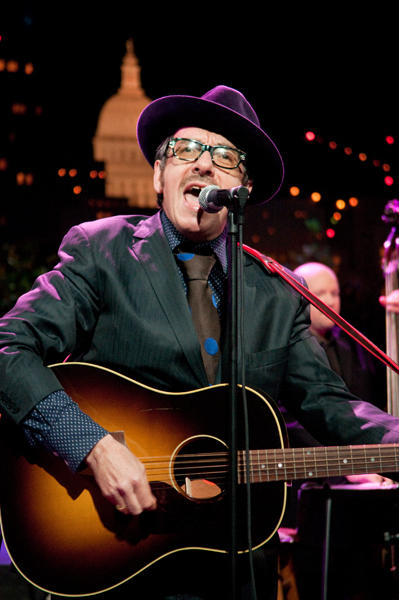 Songwriting genius Elvis Costello performs songs from his Americana-influenced record Secret, Profane and Sugarcane.