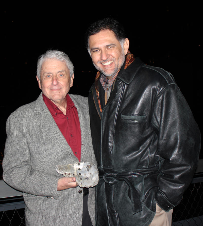 Irv Atkins asks HISTORY DETECTIVES host Eduardo Pagán to investigate if this twisted piece of metal is a remnant of the 1945 B-25 Bomber collision into the Empire State Building.