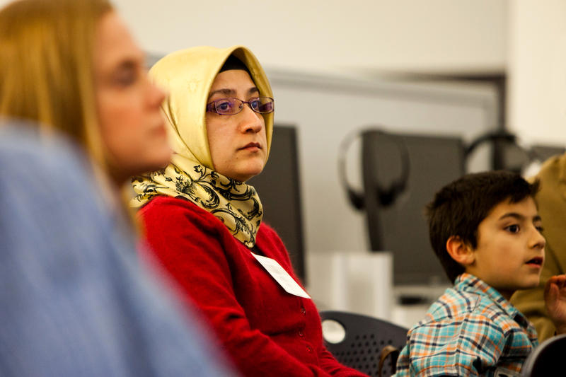 Adult immigrants are often more isolated by language barriers than their children.