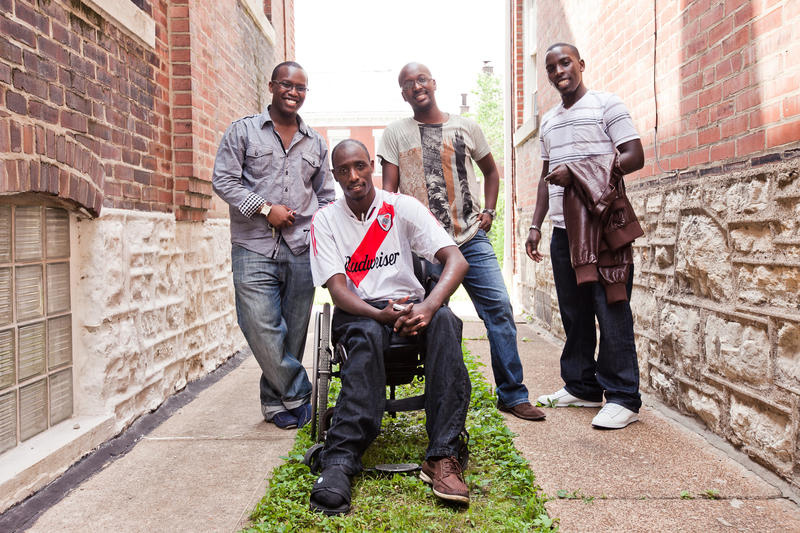 Brothers in spirit, these African refugees bonded to face their new challenges in America.