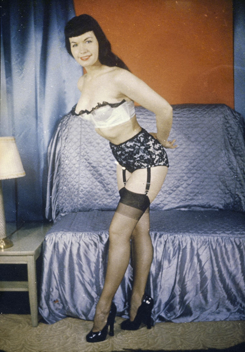 "HISTORY DETECTIVE Gwen Wright investigates whether this photo of pin-up model Bettie Page came from one of ""Pin-up King"" Irving Klaw's supposedly destroyed slides."
