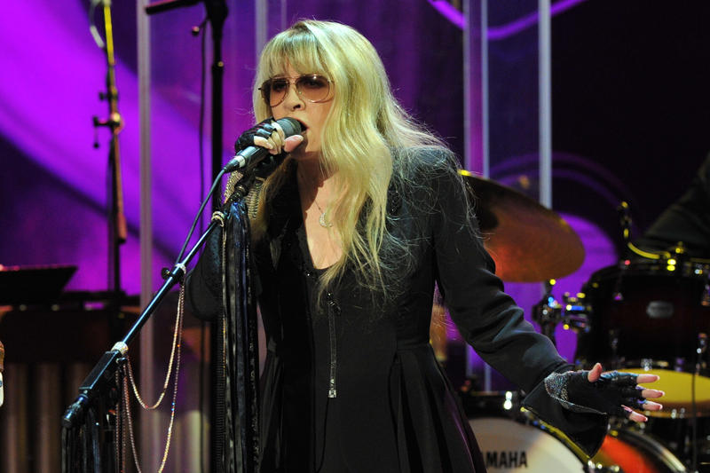 Stevie Nicks performs during the concert held at Hollywood's Music Box Theatre in celebration of what would have been Buddy Holly's 75th birthday, September 7, 2011.